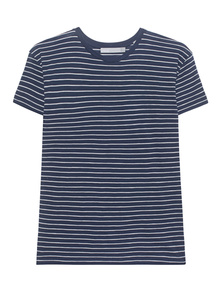 VINCE Relaxed Short Sleeve Tee Blue