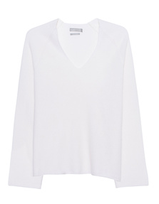 VINCE Deep V-Neck Off-White