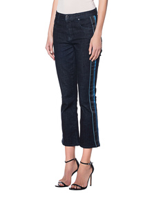 VICTORIA, VICTORIA BECKHAM Raw Stretch Stripe Blue