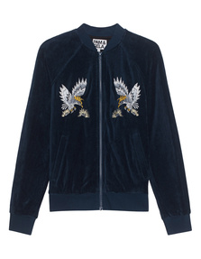 Pam&Gela Embroidered Track Jacket Teal