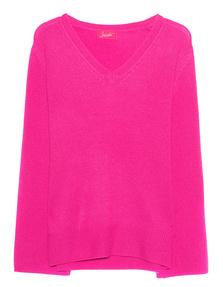 JADICTED V Neck Cashmere Neon Pink
