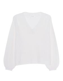 JADICTED V-Neck Cashmere Knit Off-White