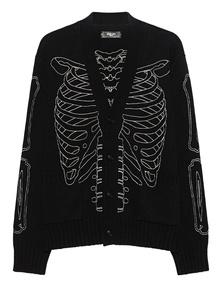 Amiri Skeleton Intarsia Black