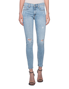 RAG&BONE Ankle Skinny Destroyed Light Blue