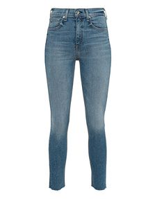 RAG&BONE High Rise Ankle Skinny Blue