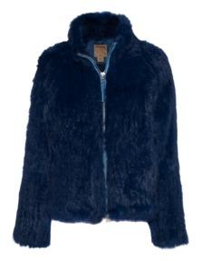 TRUE RELIGION Rabbit Knit Fur Estate Blue