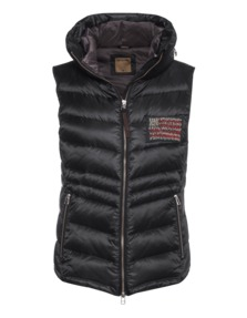 TRUE RELIGION Womens Down Vest Black