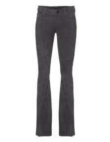TRUE RELIGION Womens Leather Flared Pant Castlerock