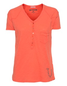 TRUE RELIGION Button Fly T Wings Sunset