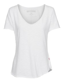 TRUE RELIGION Stars Raw Edge Construction White