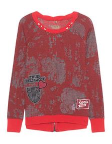 TRUE RELIGION Sweater Patches Tomato