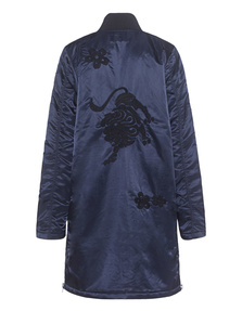TRUE RELIGION Long Bomber Embroidery Night Blue