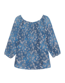 TRUE RELIGION Carmen Blouse Star Cold Dyed Original