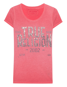 TRUE RELIGION Crew Neck True Red