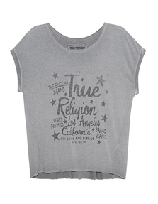 TRUE RELIGION Crew Shirt Artwork Castle Rock