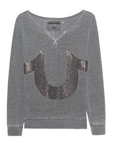 TRUE RELIGION Horseshoe Embellished Grey