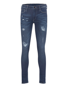 TRUE RELIGION Halle Destroy Repair Blue Denim