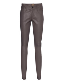 TRUE RELIGION Skinny Leather Pant Grey