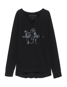 TRUE RELIGION Crew Sweat Buddha Jet Black