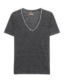 TRUE RELIGION V Neck Sparkle Black