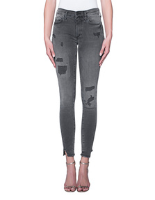 TRUE RELIGION Halle Destroyed Black Denim
