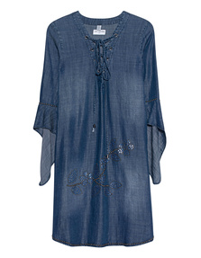 TRUE RELIGION Dress Rivets Denim Blue