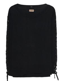 TRUE RELIGION Sweater Sleeve Lacing Black