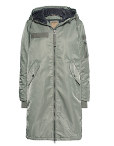 TRUE RELIGION Hooded Parka Chalk Green