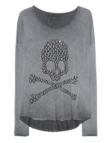 TRUE RELIGION Skull Anthracite