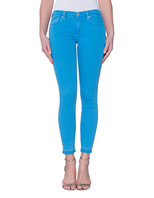 TRUE RELIGION Halle Crop French Blue