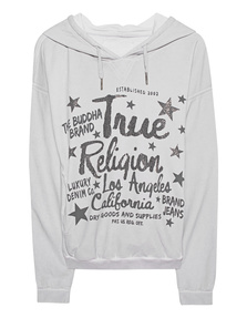 TRUE RELIGION Highrise Boxy Rhinestone On Stars Grey