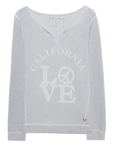 TRUE RELIGION Fleeced Sweater Cali Love Highrise