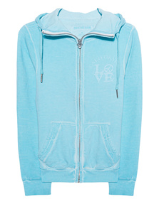 TRUE RELIGION Hooded Zip Jkt Cali Blue Radiance