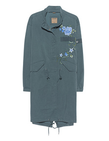 TRUE RELIGION Hoodless Embroidery Balsam Green