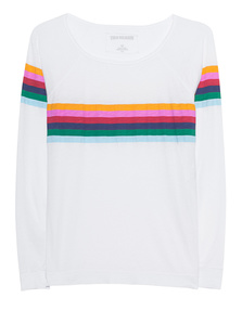 TRUE RELIGION Rainbow Relaxed White