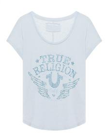 TRUE RELIGION Rhinstone Calif. Le Baby Blue