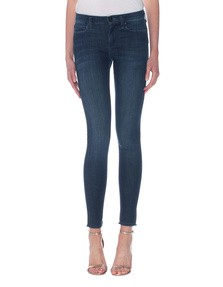 TRUE RELIGION Halle Mid Rise Super Skinny Coral Blue