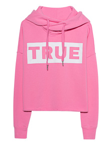 TRUE RELIGION Statement Hoodie Pink