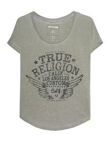 TRUE RELIGION Collar Shirt Artwork Dusty Olive