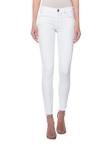 TRUE RELIGION Halle Special Frayed Pocket White