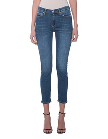 TRUE RELIGION High Waist Straight Blue Tencel