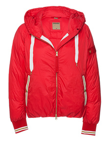 TRUE RELIGION Light Weight Bomber Fiery Red