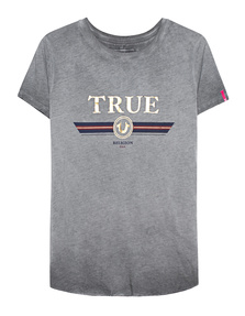 TRUE RELIGION Boxy Crew True Gold Black