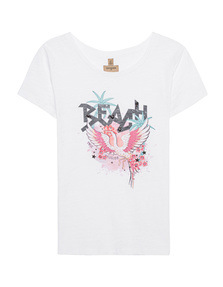 TRUE RELIGION Round Neck Beach White