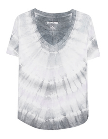 TRUE RELIGION V Neck Batik Silver