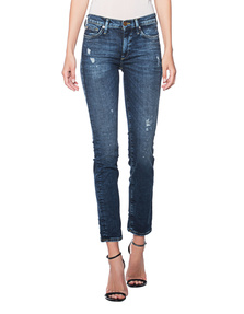 TRUE RELIGION New Halle Crop Cool Wash Blue