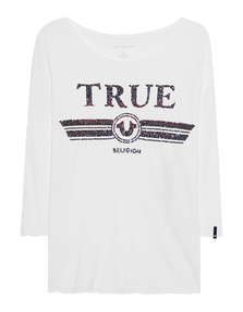 TRUE RELIGION Trucci Longsleeve White
