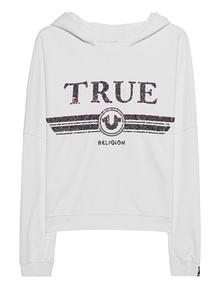 TRUE RELIGION Hood Sequin White