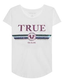 TRUE RELIGION True Multicolor Sequins White
