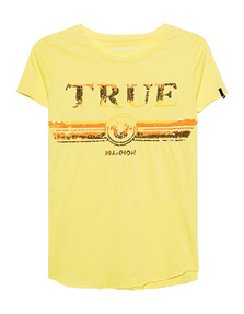 TRUE RELIGION Round Sequins Yellow